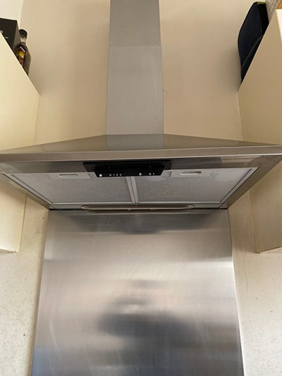 An extractor professionally cleaned by Amazing services London