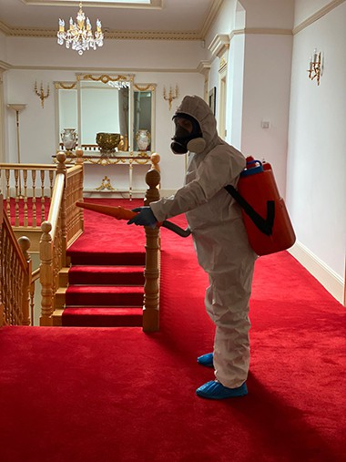 House cleaning and disinfection by Amazing Services London certified fogging technician