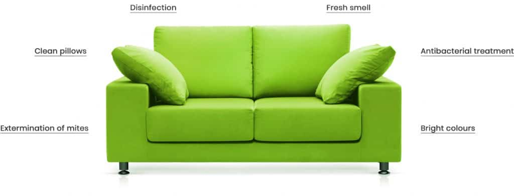 Professional sofa cleaning results