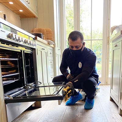 Professional Oven cleaning in a house